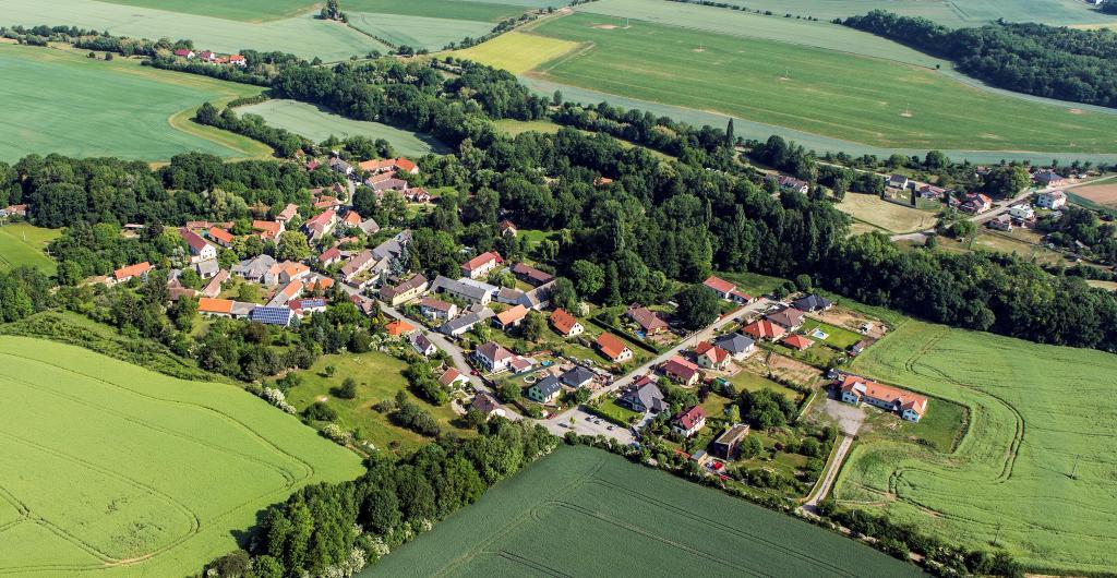 Letecké snímky obcí